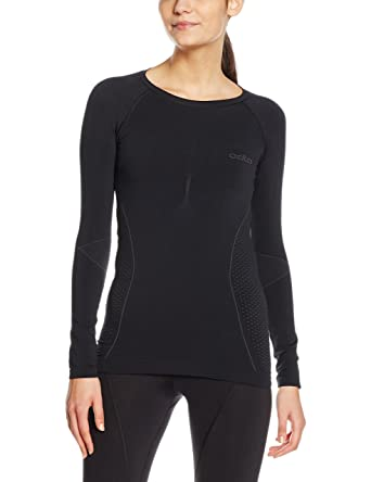 Odlo Women s Evolution Warm Long Sleeve Crew Neck Running and Outdoor Top  at Amazon Women s Clothing store  62526c60e
