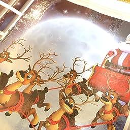Amazon Co Jp Keynice 2枚 クリスマスツリー ウォールステッカー シール 飾り 壁紙 剥がせる 3d サンタクロース 窓 家庭 ショーウインドウ インテリア クリスマス 雰囲気満点 2枚入り ホーム キッチン