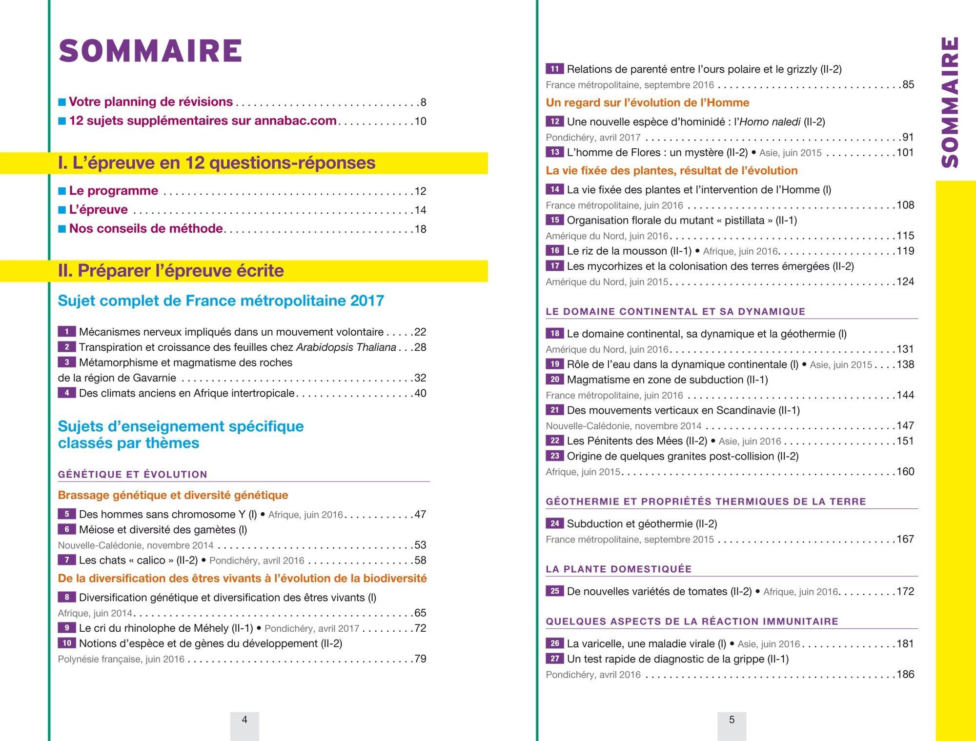 Annales Annabac 2018 SVT Tle S: sujets et corrigés du bac Terminale S: 9782401030398: Amazon.com: Books
