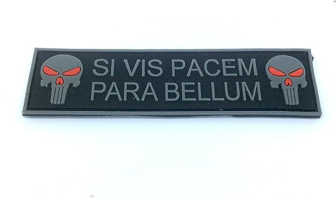 Si haute visibilit/é Prix Pacem para Bellum Punisher Grande PVC Airsoft Team Patch