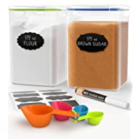 Extra Large Tall Food Storage Containers for Flour and Sugar