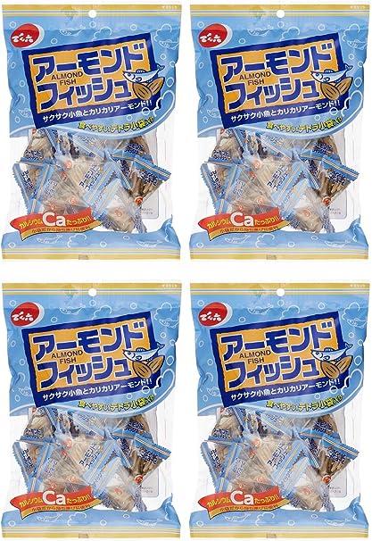 でん六 小袋アーモンドフィッシュ 80g(個装紙込み)×4袋