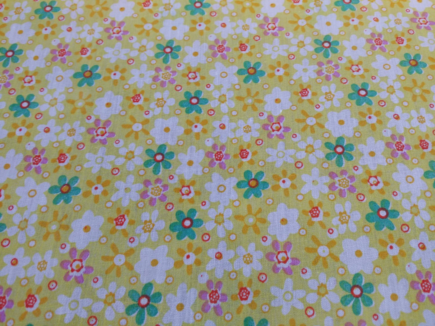 SUMMER FLORAL Polycotton Fabric Bunting Craft Material