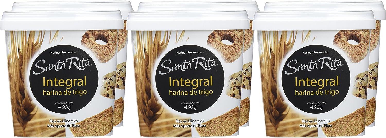Santa Rita Harina Integral de Trigo - 6 Paquetes de 430 gr - Total: 2580 gr: Amazon.es: Alimentación y bebidas