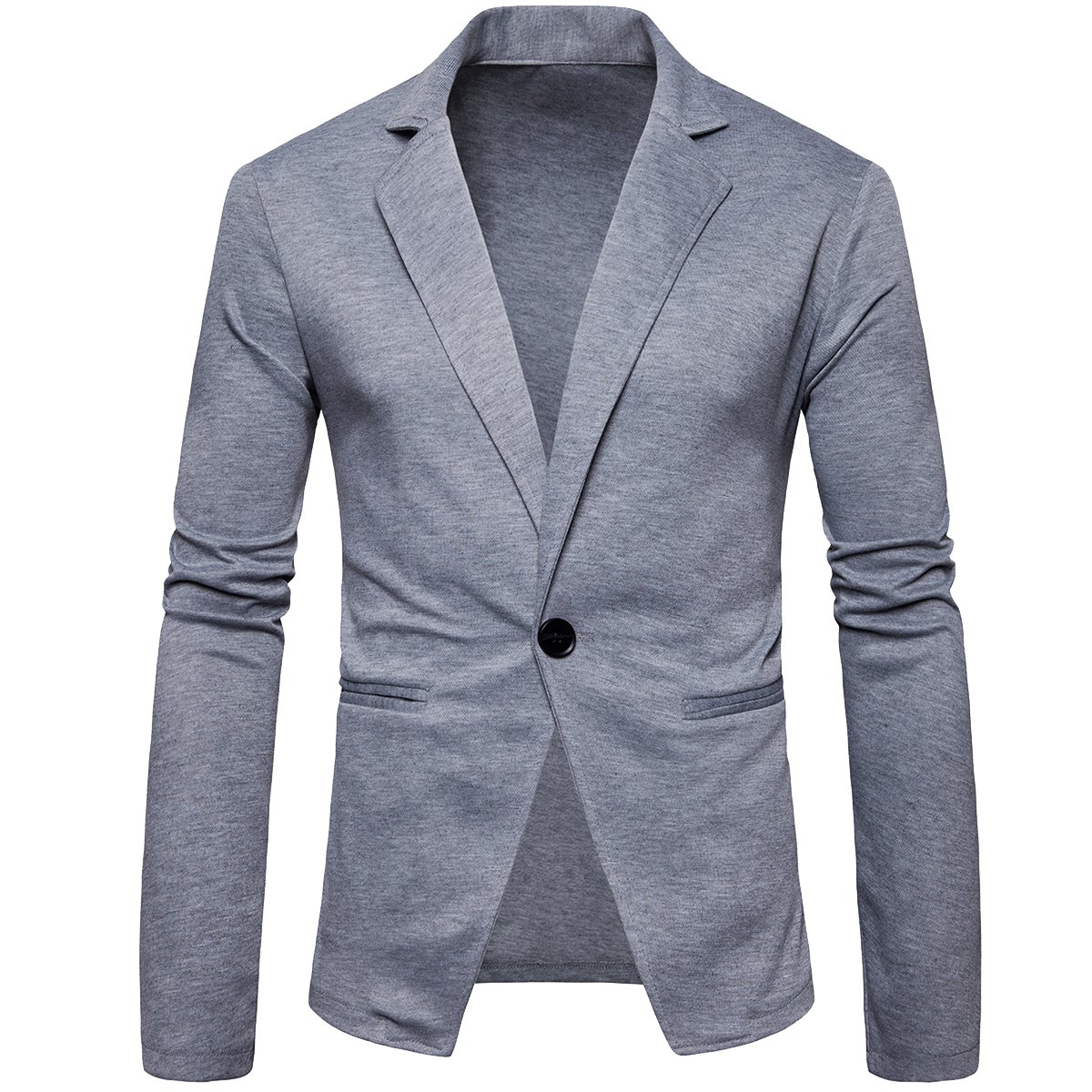Cottory Mens Slim Fit Stylish One Button Sport Jacket Casual Tuxedo
