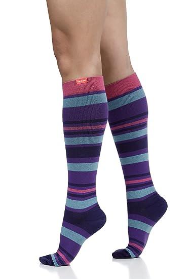 ed3d857b4 Amazon.com  Vim   VIGR Women s 15-20 mmHg Compression Socks  Fun ...