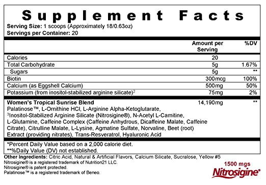 L-iquid Youth Day & Night Supplements For Women - Nitric Oxide, Citrulline, Biotin, Beet Root,...