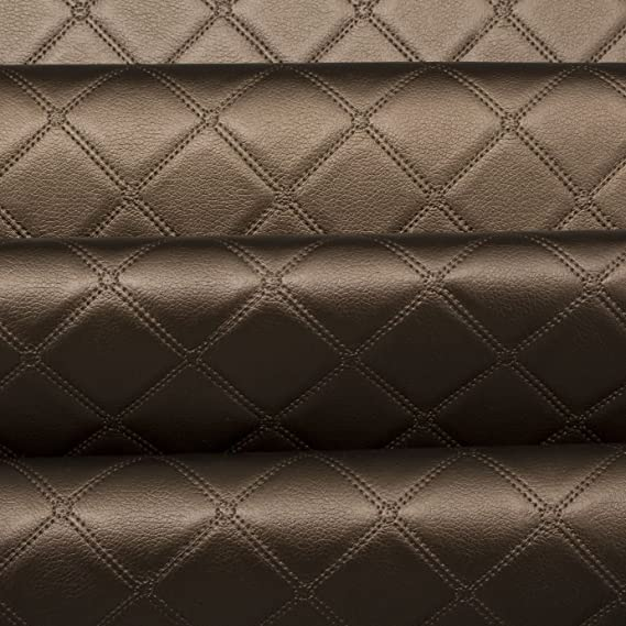 Luxury Quality HeavyFeel Embossed Faux CREAM PVC LEATHER Upholstery Craft Fabric