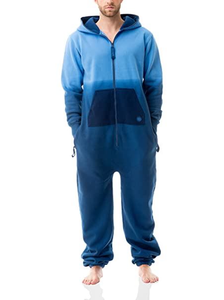 Zipups Mono-Pijama Dipin Azul Claro L