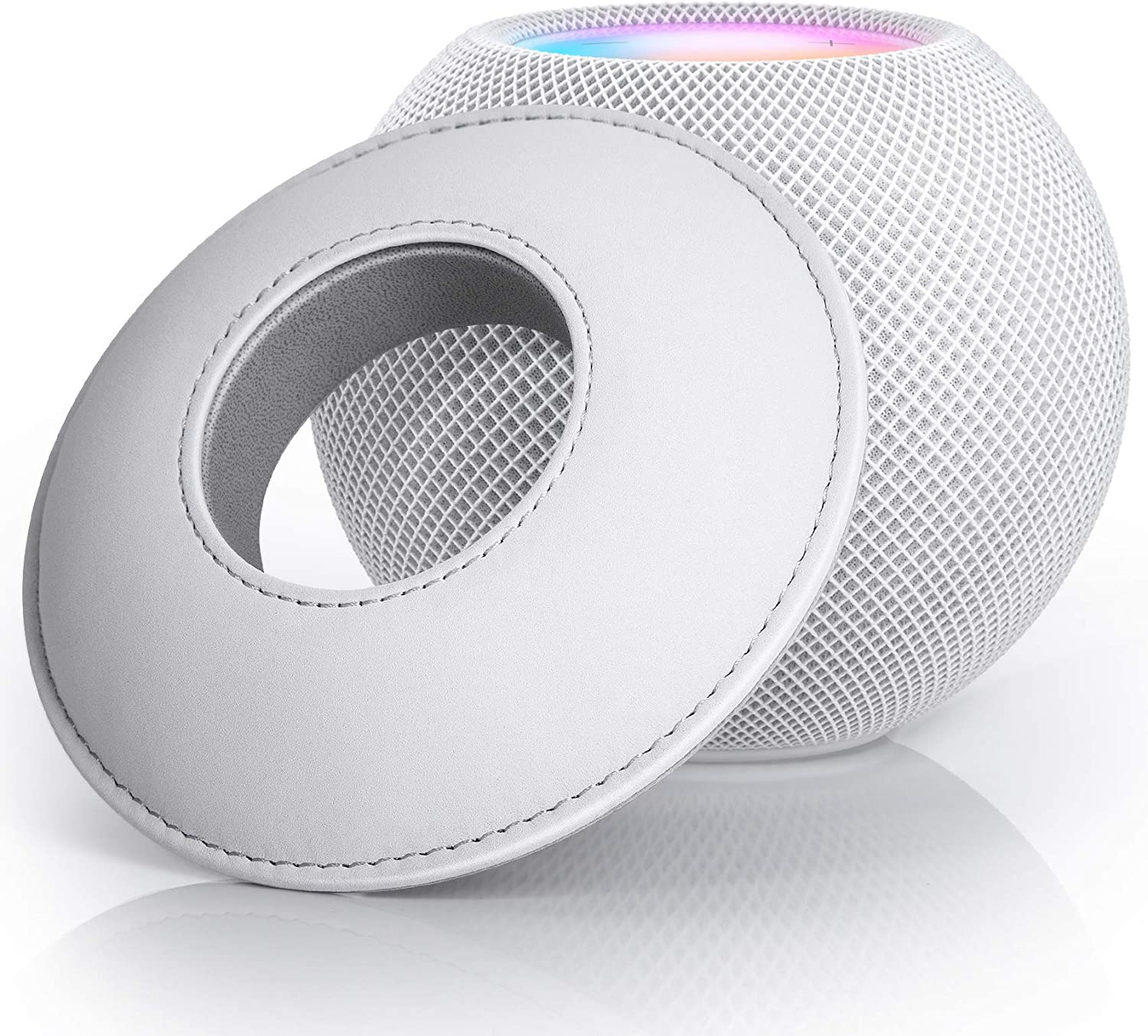 TopMade Table Holder Stand for HomePod Mini, Speaker Base Wall Mount Holder Shelf Stand Compatible with Apple HomePod Mini Desktop Stand Bracket Scratch Free Anti Slip Pad, Space Saving Speaker Stand