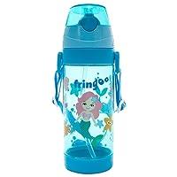 FRINGOO® Kids Children Straw Drinks Water Bottle 550ml Handle Strap Flip Top