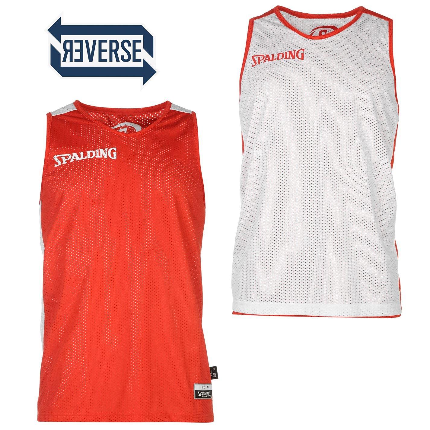 Spalding Hombre Reversible Camiseta Ligero Baloncesto Sin Mangas ...