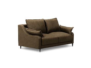 Mazzini Sofas - Sofa, Ancolie, 2 plazas, marrón, 150 x 94 x ...