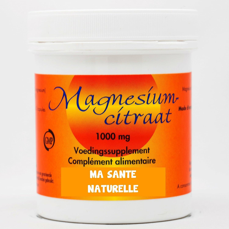 Citrato de magnesio (1000 mg) - 100 Cápsulas vegetales: Amazon.es: Salud y cuidado personal
