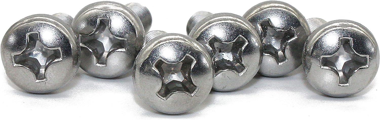 100 pc M3-0.5x10 mm Pan Head Phillips Machine Screws,18-8 Stainless Steel by Fullerkreg