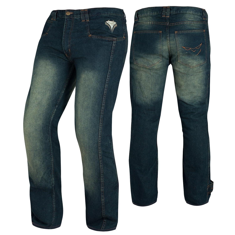 A-Pro Jeans Pantaloni Moto Scooter Protezioni CE Omologate Rinforzo Fianchi Blu 26 5180000047610