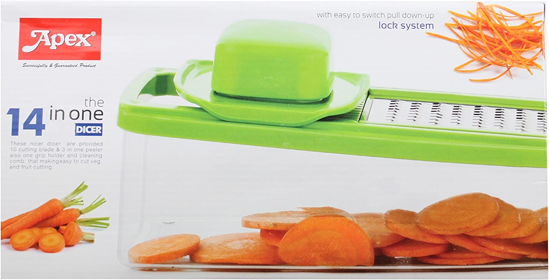 4 Stick Slicer Grater Vegetable Fruit Cutter Chopper Set Easy Grip NEW /& BOXED