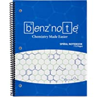 Benznote Spiral Notebook for Organic and Bio Chemistry