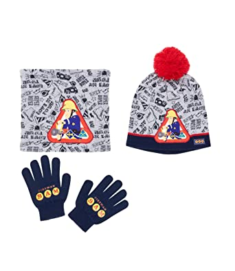 Sam le Pompier Ensemble 3 pièces   écharpe, bonnet et gants gris   Amazon.fr  Vêtements et accessoires e2eaf3cc419