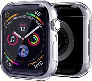 Case for Apple Watch Series 3/2/1 Screen Protector 38mm New iWatch Overall Protective Case TPU HD Clear Ultra-Thin Cover [2-Pack]