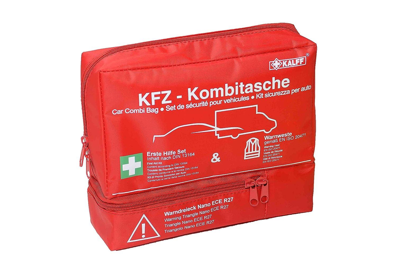 Kalff 7425/Auto della Kombi Tasche Trio con Triangolo di Segnalazione e Gilet ad Alta visibilit/à
