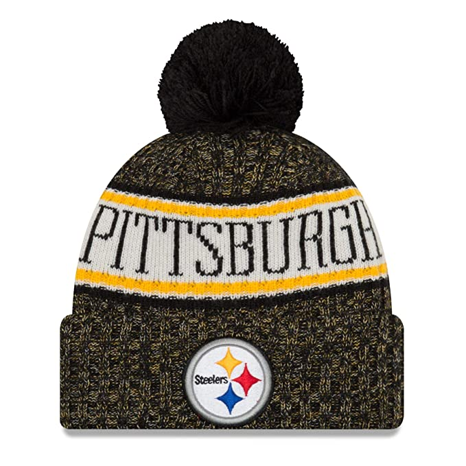013378bb84c99 New Era NFL Sideline 2018 Chapeau - Pittsburgh Steelers  Amazon.fr   Vêtements et accessoires