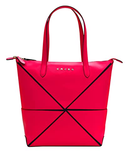 7b1911ebf3 Cross Women s Genuine Leather Origami Big Collapsible Hand Bag - Fuchsia   Amazon.co.uk  Shoes   Bags