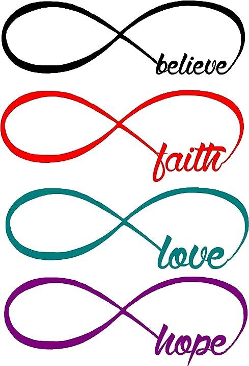 Amazon Infinity Symbol Love Faith Believe Hope Wall Decals