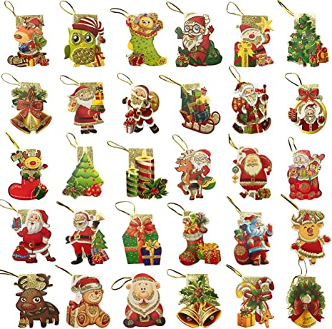 Amazon.com: Cieovo - 240 etiquetas de regalo de Navidad para ...