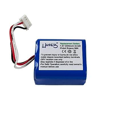 Batterie 2500 mAh pour iRobot Braava 380 de Hannets