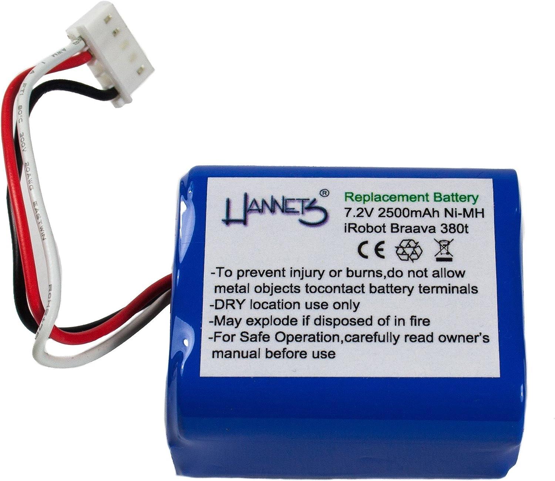 Hannets® - Batería 2500 mAh para iRobot Braava 390 - 390T: Amazon ...