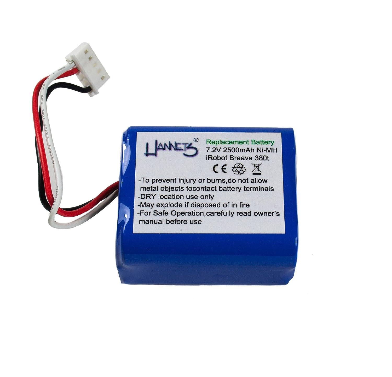 Hannets Batterie 2500mAh pour iRobot Braava 380T