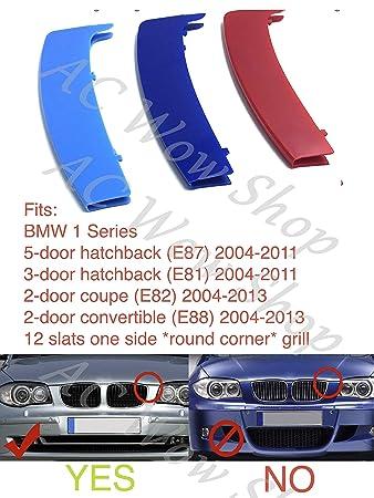 GRIGLIA ANTERIORE SINISTRA CROMATA-NERA BMW SERIE 1 E81//E87//E82//E88 07/>