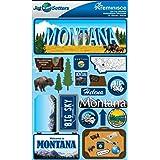 Reminisce Jet Setters Dimensional Stickers-Montana