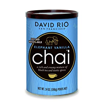 David Rio Chai Mix, Elephant Vanilla, 14 Ounce / 398g - instantánea té Chai: Amazon.es: Hogar