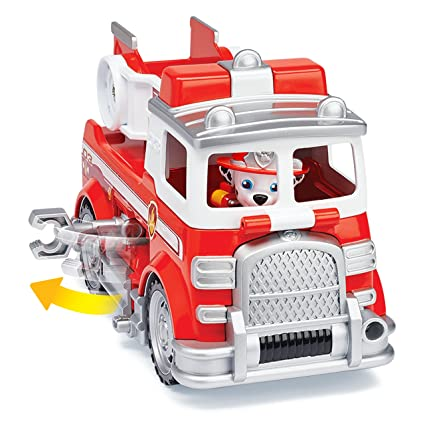 amazon com paw patrol marshall s ultimate rescue fire truck with