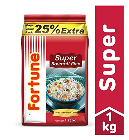 Fortune Super Basmati Rice, 1kg with 25% Extra