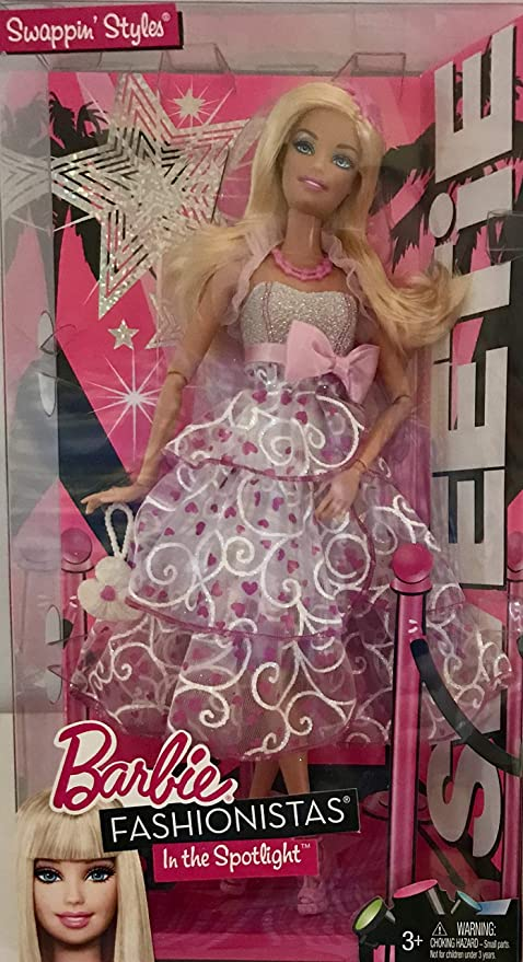 NEW Barbie Fashionista Doll Pink Bow White Necklace Jewelry Accessory
