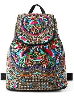 7e2920fb70e5 Goodhan Vintage Women Embroidery Ethnic Backpack Travel Handbag Shoulder Bag  Mochila