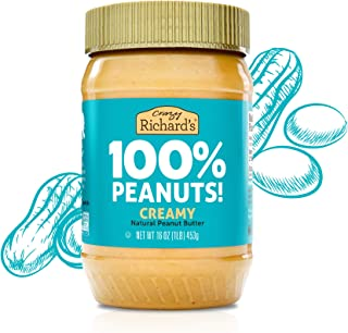 product image for 100% All-Natural Creamy Peanut Butter, Sugar-Free Peanut Butter Bulk Pack of 3 x 16oz – Crazy Richard's