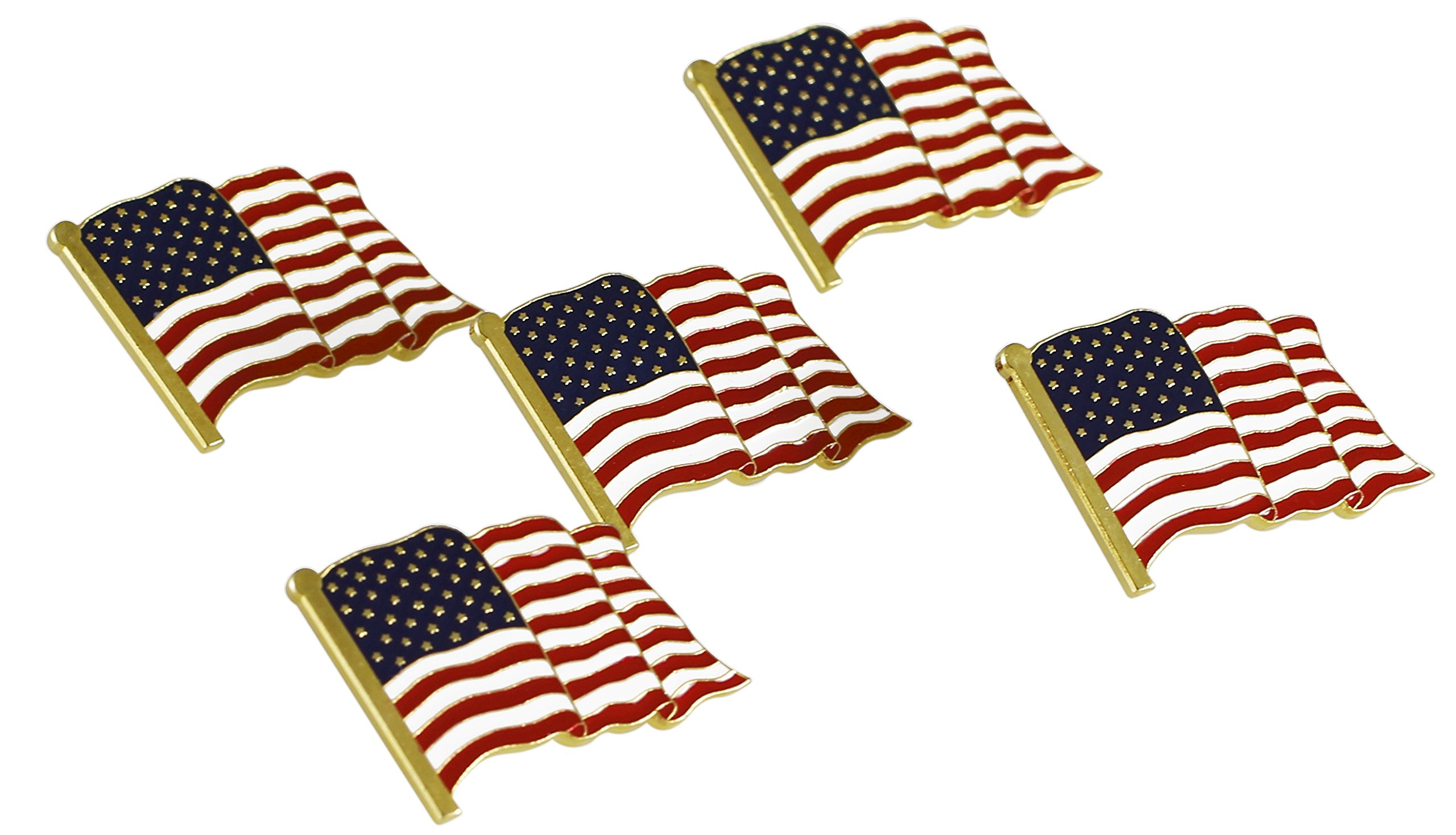 American Flag Lapel Pin Proudly Made in USA (10 Pack)
