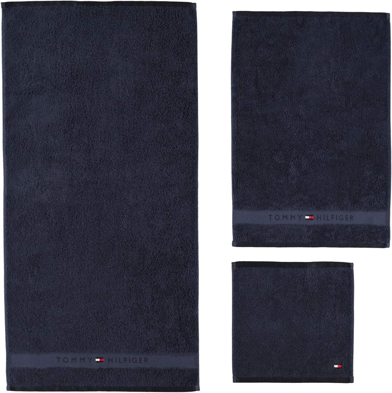 Color Azul Marino 100/% Rizo de Puro algod/ón Toalla de Rizo Tommy Hilfiger 50 x 100 cm