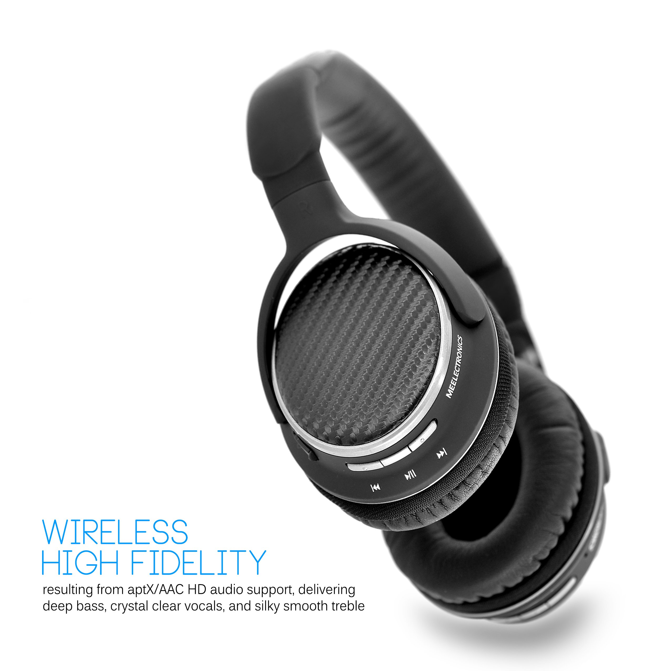 MEE audio Matrix2 Bluetooth Wireless + Wired High Fidelity Headphones with Headset and aptX, AAC, and NFC Support by MEE audio