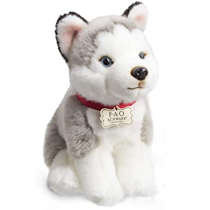 579e129005d0 FAO Schwarz Siberian Husky Puppy Dog Toy Plush 10 Inches, Ultra Soft and  Snuggly Doll