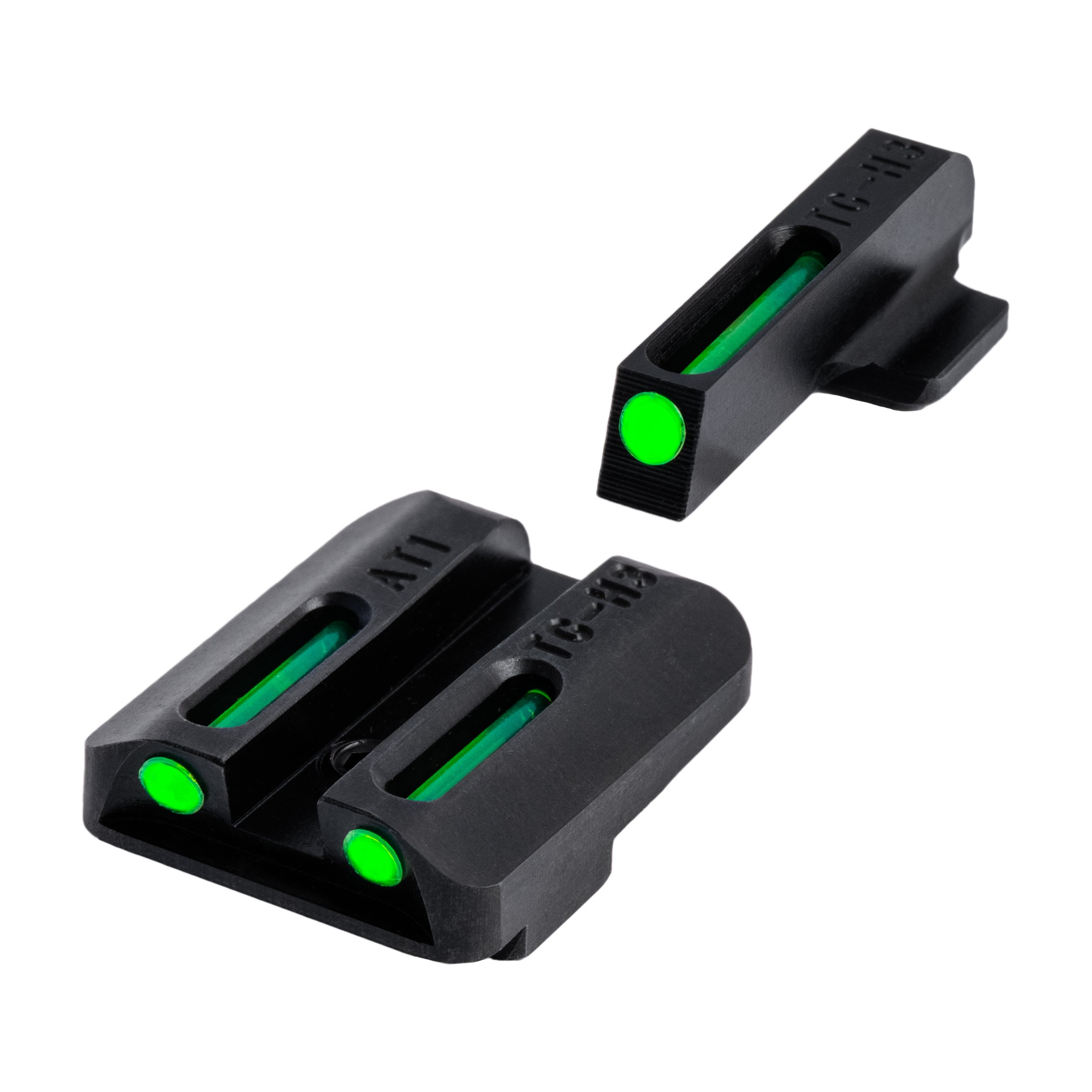 TRUGLO TFO Tritium and Fiber-Optic Handgun Sights for Kahr Arms Pistols, Kahr Arms K, MK, P, PM, T&TP Models with New Dovetail (Produced After 2004), Green Front, Green Rear by TRUGLO