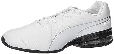 Puma Men s Cell Kilter SL White and Puma Silver Mesh Running Shoes -  10UK India 45617334e