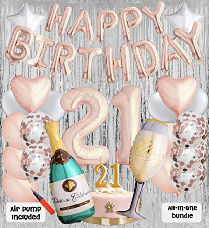 21st Birthday Party Balloons And Decoration Bundle