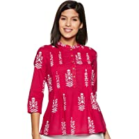 Amazon Brand - Myx Women's Floral Regular fit Top