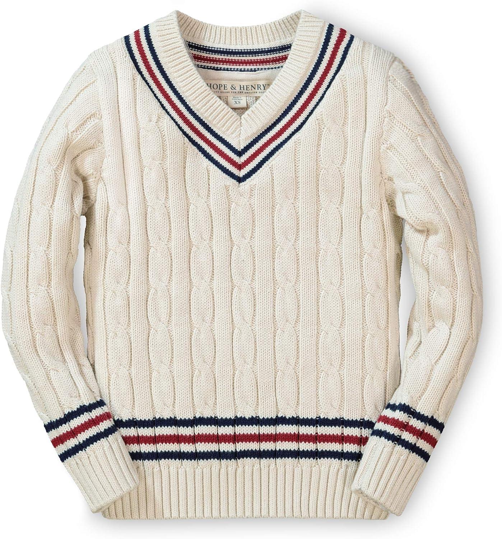 60s 70s Kids Costumes & Clothing Girls & Boys Hope & Henry Boys Long Sleeve V-Neck Cricket Sweater $25.95 AT vintagedancer.com