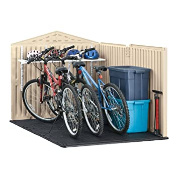 Plastic bike shed
